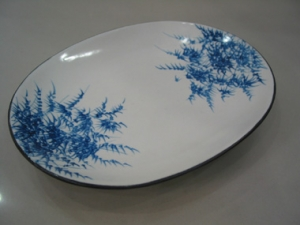 Ceramic plate painting bamboo