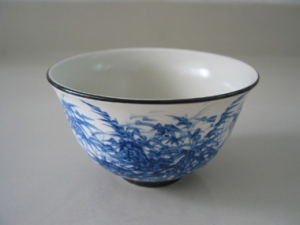 Ceramic bowl painting bamboo