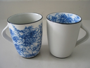 Ceramic cup painting bamboo