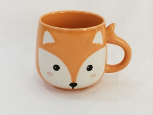 Ceramic cup with fox shape